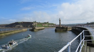 Entrance to Whitby harbour